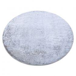 Modern mosószőnyeg LAPIN kör shaggy, csúszásgátló szürke / elefántcsont