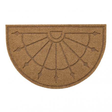 Protiskluzová půlkulatá rohož PATIO 1099 venkovní, vnitřní, gumová, béžová