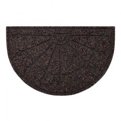 Doormat PATIO 7097 semicircle antislip, outdoor, indoor, gum - brown
