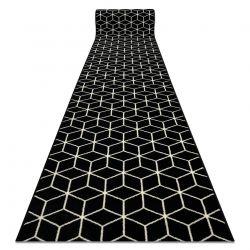 Bcf futó szőnyeg BASE Cube 3956 Kocka fekete / elefántcsont