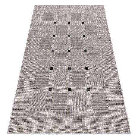 Fonott sizal floorlux szőnyeg 20079 Négyszögletes ezüst / fekete