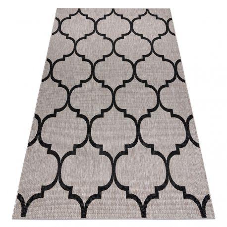 CARPET SIZAL FLOORLUX 20608 Moroccan trellis silver / black
