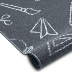 Teppichboden für Kinder SCHOOL Schule grau