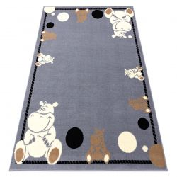 Koberec BCF FLASH Hippo 3993 - Hroch šedá