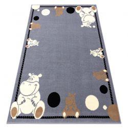 Tappeto BCF FLASH Hippo 3993 - Ippopotamo grigio