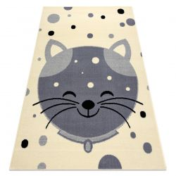 Alfombra BCF FLASH Kitten 3998 - gatito crema / gris