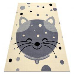 Tapis BCF FLASH Kitten 3998 - minou crème / gris