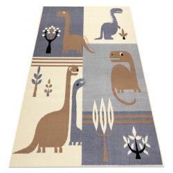 Dywan BCF FLASH Dinosaur 3994 - Dinozaur szary