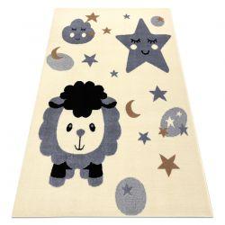 Carpet BCF FLASH Sheep 4000 - cream / grey
