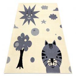 Carpet BCF FLASH Smile 3992 - Sun cream / grey