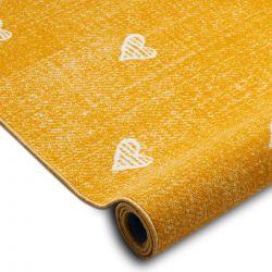 Wykładzina dywanowa dla dzieci HEARTS Jeans, przecierana serca, serduszka, dziecięca - pomarańcz