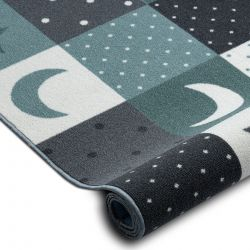 Teppichboden für Kinder STARS Sterne türkis / grau