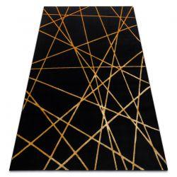 Koberec GLOSS moderni 406C 86 stylový, glamour, art deco, geometrický černý / zlato