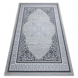 Koberec GLOSS moderni 8490 52 Ornament, stylový, rám slonová kost / šedá