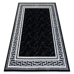 Koberec GLOSS moderni 2813 87 stylový, rám, řecký černý / šedá