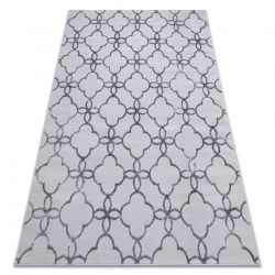 Modern MEFE szőnyeg 8504 Lugas, Virágok - Structural két szintű gyapjú sötétszürke