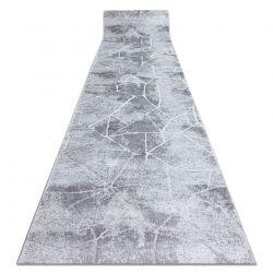 Läufer Strukturell MEFE 2783 Marmor zwei Ebenen aus Vlies grau