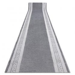 MEFE futó szőnyeg Structural 2813 Keret, görög kulcs két szintű gyapjú szürke