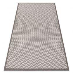 Teppich SISAL BORDERO 2901 flach gewebt creme / taupe