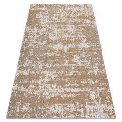 Fonott Sizal CASA Eco szőnyeg boho vintage 2809 krém / sárga, újrahasznosított szőnyeg
