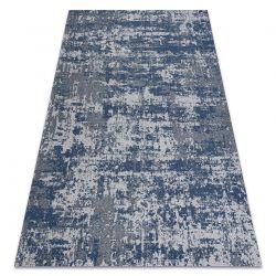 Fonott Sizal CASA Eco szőnyeg boho vintage 2809 szürke / sötétkék, újrahasznosított szőnyeg