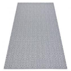 Fonott Sizal CASA Eco szőnyeg boho gyémánt 22084 antracit / sárga, újrahasznosított szőnyeg
