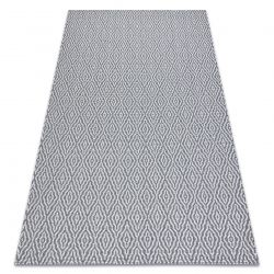 Teppich CASA ÖKO SISAL Boho Diamanten 22084 Anthrazit / sahne