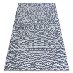 Fonott Sizal CASA Eco szőnyeg boho gyémánt 22084 sötétkék / sárga, újrahasznosított szőnyeg
