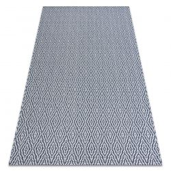 Teppich CASA ÖKO SISAL Boho Diamanten 22084 dunkelblau / sahne