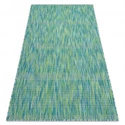 Moderní FISY koberec SISAL 20777 pásky, melanž modrý