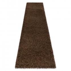 Dywan, Chodnik SOFFI shaggy 5cm brązowy - do kuchni, przedpokoju, na korytarz