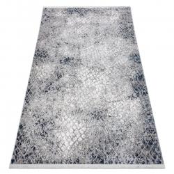 Modern REBEC szőnyeg rojt 51117 - két szintű gyapjú krém / sötétkék