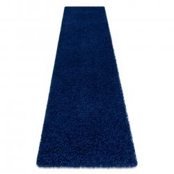Teppich, Läufer SOFFI shaggy 5cm dunkelblau - in die Küche, Halle, Korridor