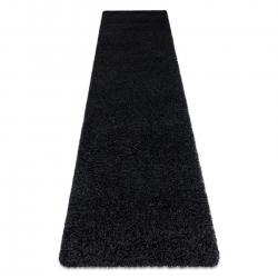 Dywan, Chodnik SOFFI shaggy 5cm czarny - do kuchni, przedpokoju, na korytarz