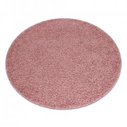 Dywan SOFFI koło shaggy 5cm różowy