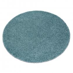 Dywan SOFFI koło shaggy 5cm niebieski