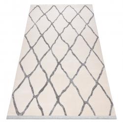 Modern REBEC szőnyeg rojt 51135A - két szintű gyapjú krém