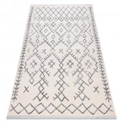 Modern REBEC szőnyeg rojt 51136A - két szintű gyapjú krém