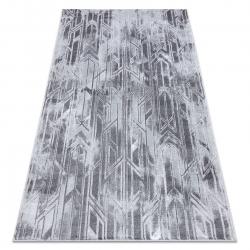 Modern MEFE szőnyeg B402 - Structural két szintű gyapjú sötétszürke