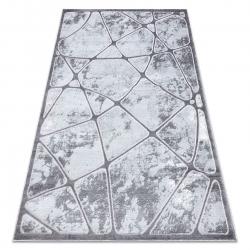 Moderní MEFE koberec B401 - Strukturální, dvě úrovně rouna tmavo-šedý