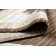Dywan MEFE nowoczesny 9096 Ramka, grecki klucz - Strukturalny, dwa poziomy runa beż / brązowy