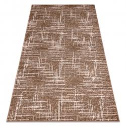 Modern MEFE carpet 9401 Lines vintage - structural two levels of fleece beige / brown