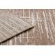 Dywan MEFE nowoczesny 9401 Linie vintage przecierany - Strukturalny, dwa poziomy runa beż / brązowy