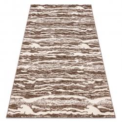 Modern MEFE carpet 8761 Waves - structural two levels of fleece dark beige