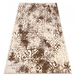 модерен MEFE килим 8724 украшение vintage - structural две нива на руно бежов / злато