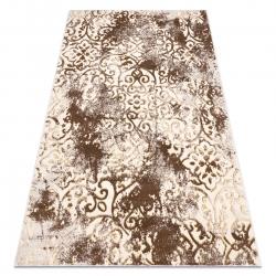 Modern MEFE carpet 8724 Ornament, vintage - structural two levels of fleece beige / gold
