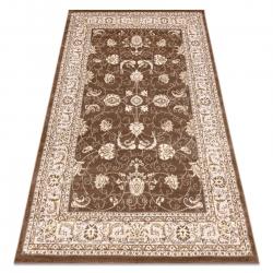 Modern MEFE carpet 2312 Ornament, frame - structural two levels of fleece dark beige