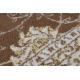 Dywan MEFE nowoczesny 2312 Ornament, ramka - Strukturalny, dwa poziomy runa ciemny beż