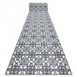 Argent futó szőnyeg virágok - W4949 fehér / szürke