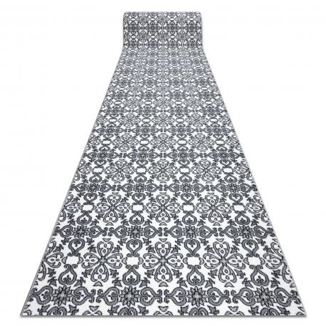 Пътеки ARGENT цветя - W4949 бял / сив